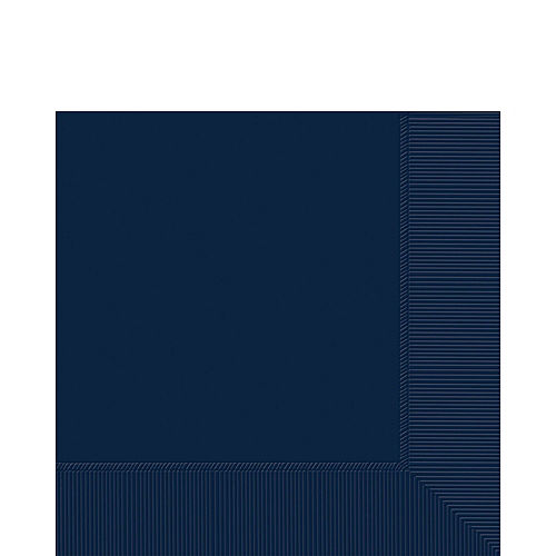 True Navy Blue Plastic Tableware Kit for 50 Guests Image #4