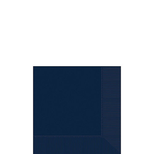 Navy Blue Paper Tableware Kit for 100 Guests Image #4