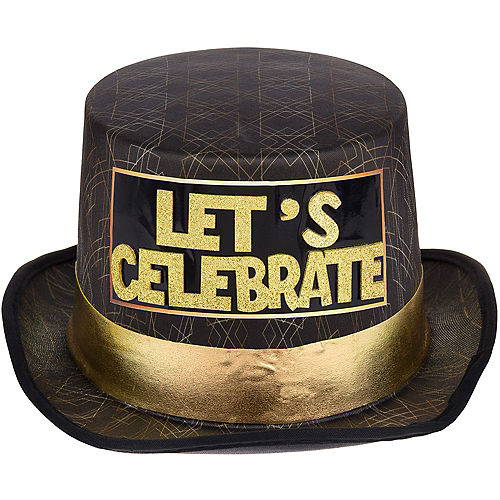 Art Deco Let's Celebrate New Year's Eve Top Hat Image #1
