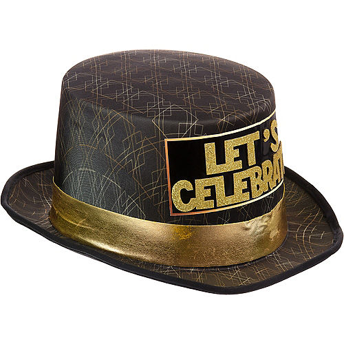 Art Deco Let's Celebrate New Year's Eve Top Hat Image #2