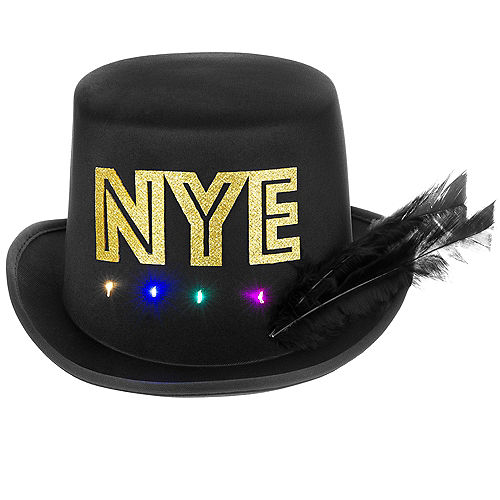 Light-Up New Year's Eve Top Hat Image #1