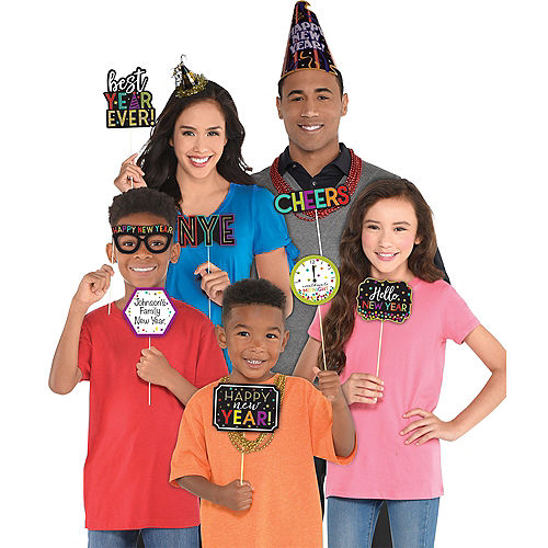 Bright New Year's Eve Photo Booth Props 13ct Image #2
