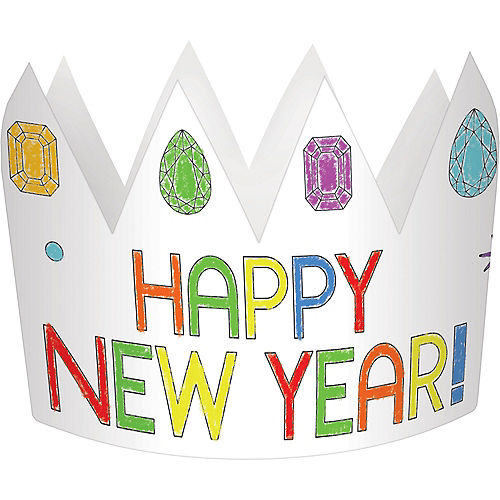 Coloring New Year's Eve Crowns 8ct Image #1