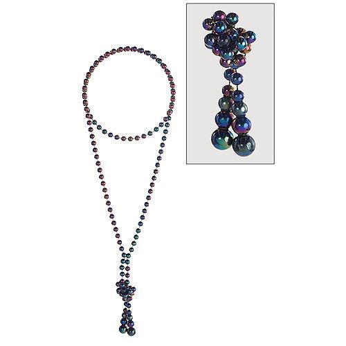 Dark Iridescent Bead Necklace Image #1