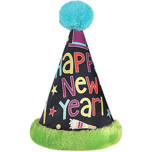 Colorful Happy New Year's Cone Hat Image #1