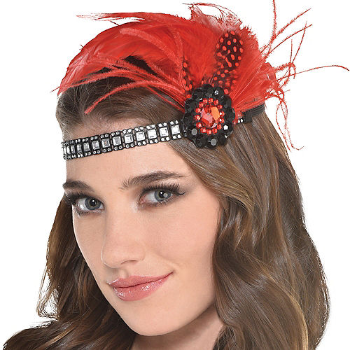 Scarlet Feather Headpiece Image #1