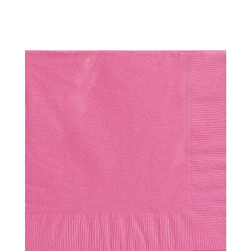 Bright Pink Paper Tableware Kit for 50 Guests Image #4