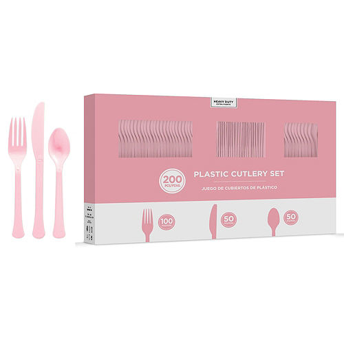 Pink Paper Tableware Kit for 50 Guests Image #7