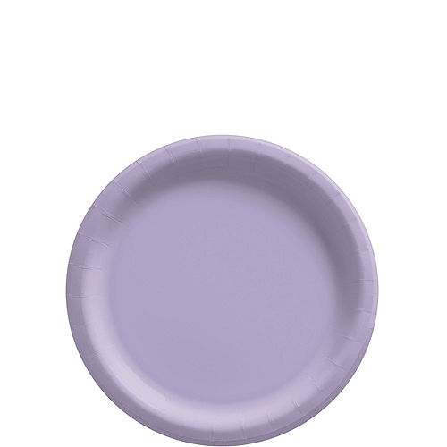Lavender Paper Tableware Kit for 50 Guests Image #2