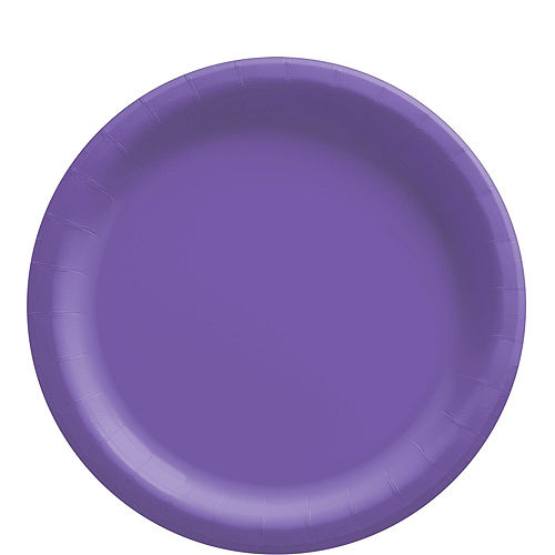 Purple Paper Tableware Kit for 50 Guests Image #3