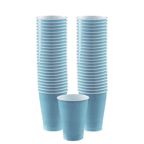 Caribbean Blue Paper Tableware Kit for 50 Guests Image #5