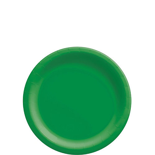 Festive Green Paper Tableware Kit for 50 Guests Image #2