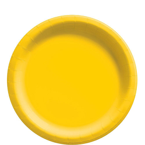 Sunshine Yellow Paper Tableware Kit for 50 Guests Image #3