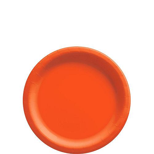 Orange Paper Tableware Kit for 50 Guests Image #2