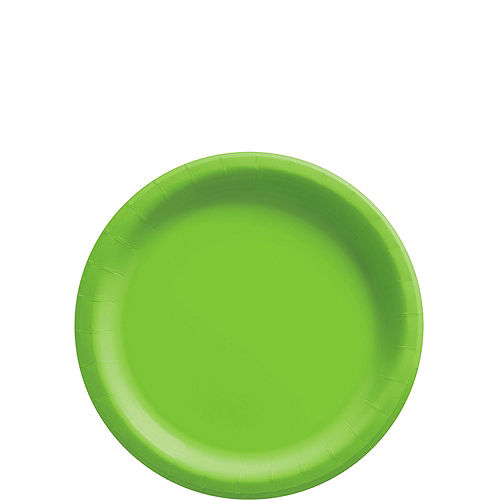 Kiwi Green Paper Tableware Kit for 50 Guests Image #2