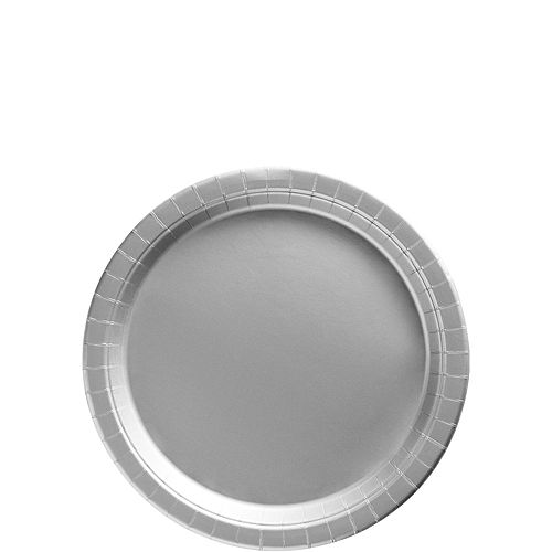 Silver Paper Tableware Kit for 50 Guests Image #2