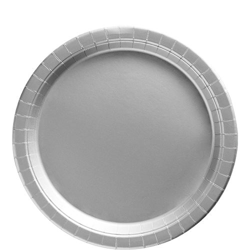 Silver Paper Tableware Kit for 50 Guests Image #3