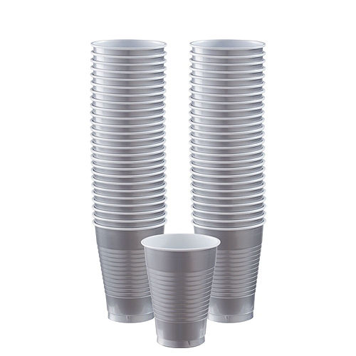 Silver Paper Tableware Kit for 50 Guests Image #5