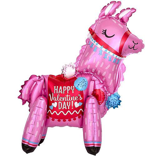3D Happy Valentine's Day Llama Balloon, 18in Image #1
