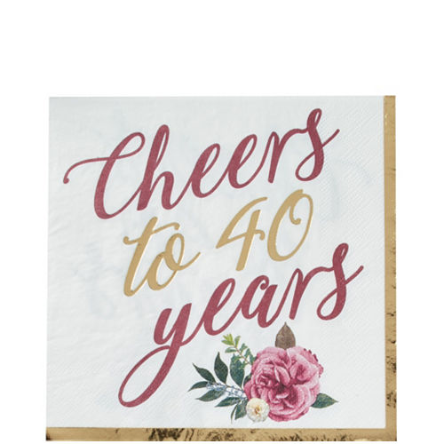 Ruby 40th Wedding Anniversary Tableware Kit for 36 Guests Image #3