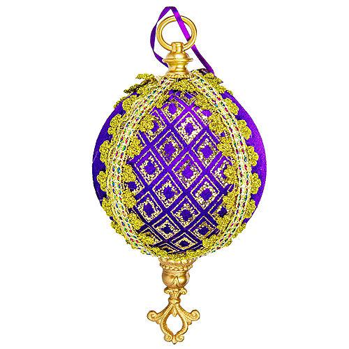 Royal Purple & Gold Orb Ornament Image #1
