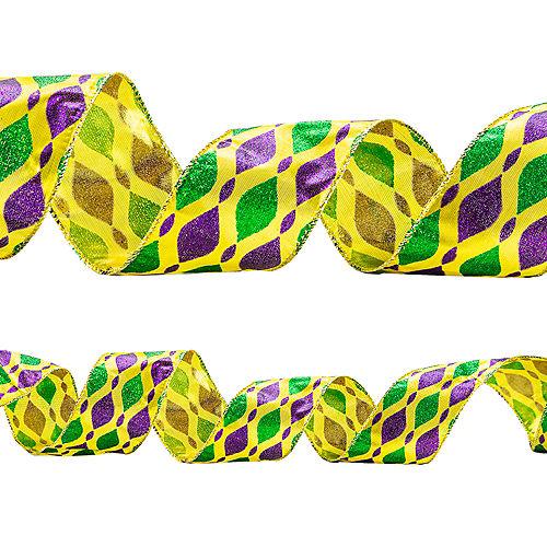 Mardi Gras Baubles Ribbon Image #1