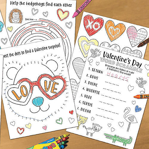 Cuddly Cubs Valentine's Day Activity Sheets  30ct Image #1