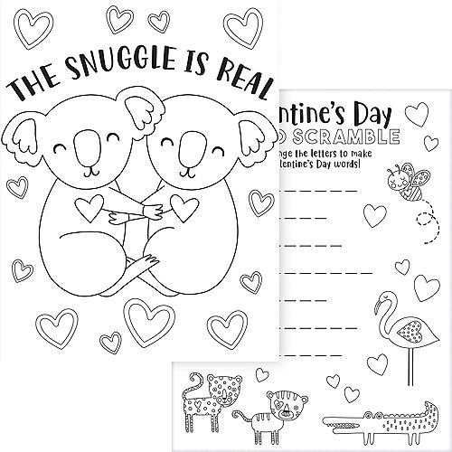 Cuddly Cubs Valentine's Day Activity Sheets  30ct Image #4