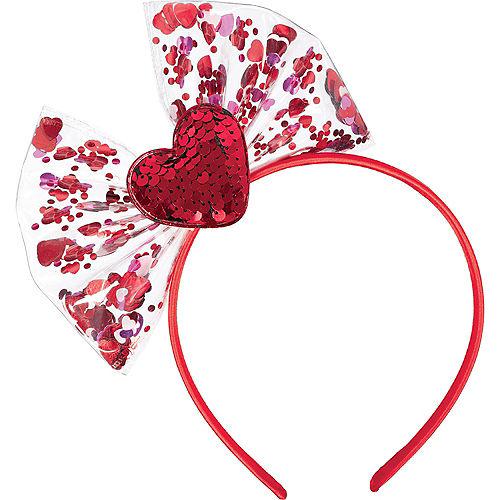 Confetti Shake Valentine's Day Bow Headband Image #1