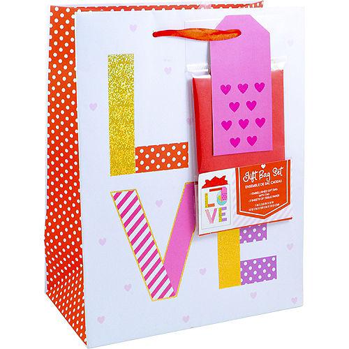 Medium Valentine's  Day Love Gift Bag Set Image #1