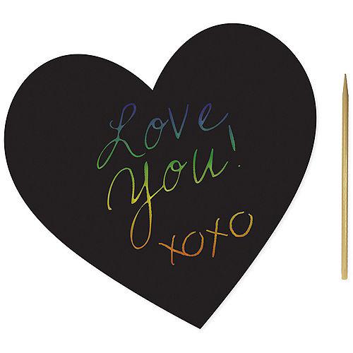 Heart Scratch Art Sheets 24ct Image #1