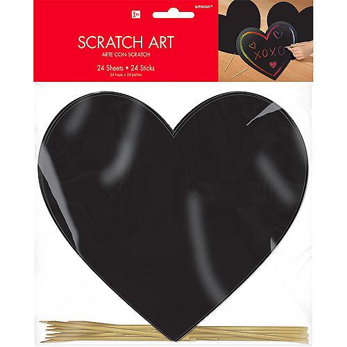 Heart Scratch Art Sheets 24ct Image #2