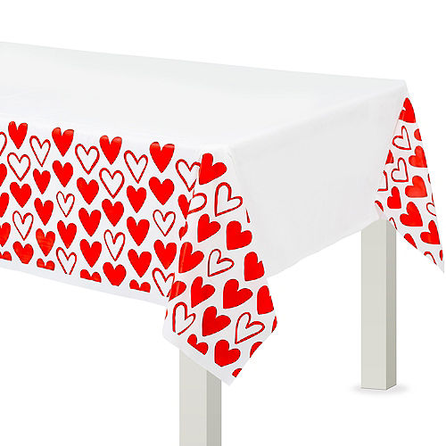 Valentine's Day Heart Table Cover Image #1