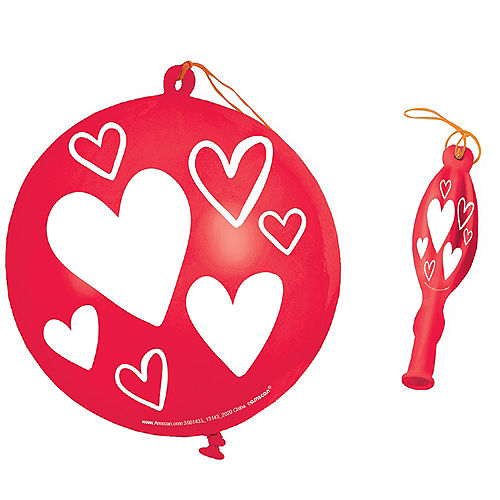 Valentine's Day Heart Punch Balloons 16ct Image #1