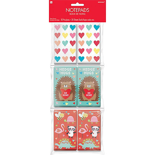 Cuddly Cubs Valentine's Day Notepads 30ct Image #1