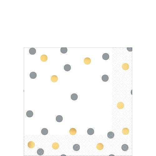 Metallic Gold & Silver Confetti Premium Tableware Kit for 20 Guests Image #4