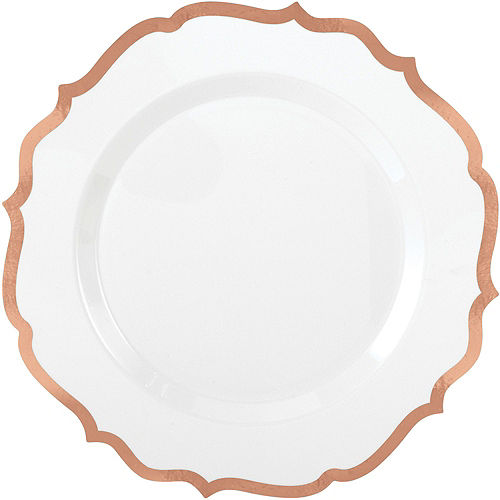 White Rose Gold-Trimmed Ornate Premium Tableware Kit for 40 Guests Image #3