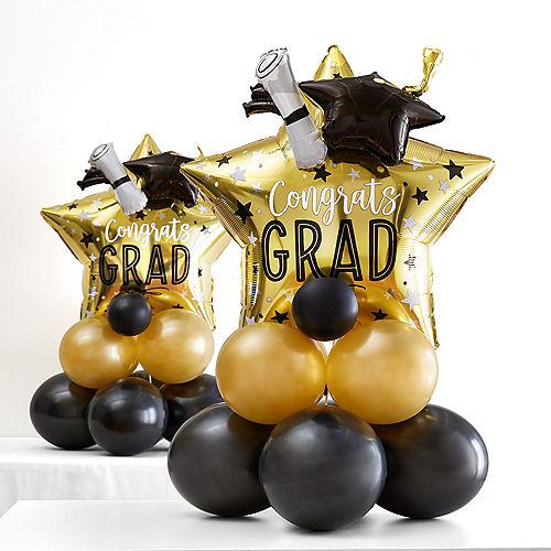 Air-Filled Graduation Star Balloon Centerpiece Kit Image #1