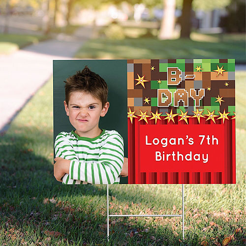 Custom Pixelated Photo Yard Sign Image #1