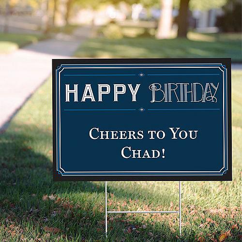 Custom Vintage Happy Birthday Yard Sign Image #1