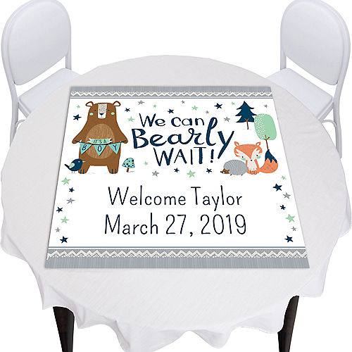 Custom Can Bearly Wait Square Vinyl Table Topper Image #1