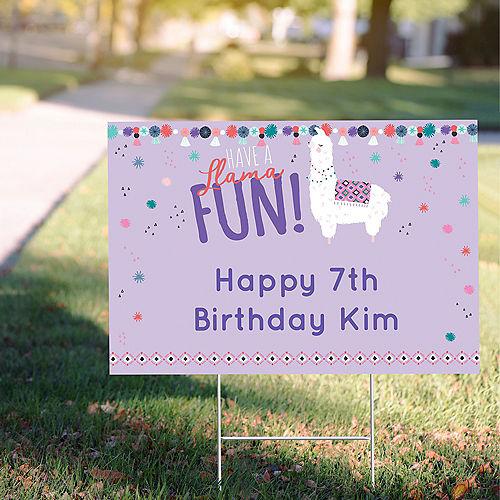 Custom Llama Fun Yard Sign Image #1