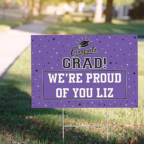 Custom School Colors Pride Purple Yard Sign Image #1