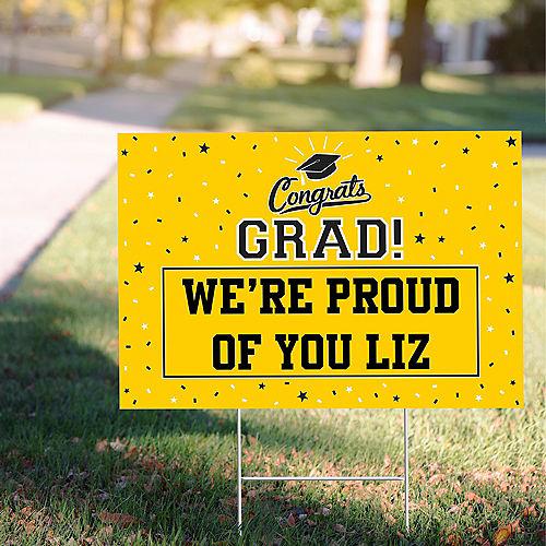 Custom Yellow Graduation Yard Sign Image #1