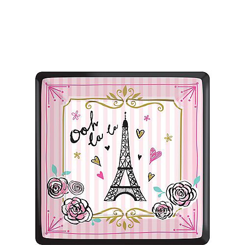 A Day in Paris Dessert Plates 8ct Image #1