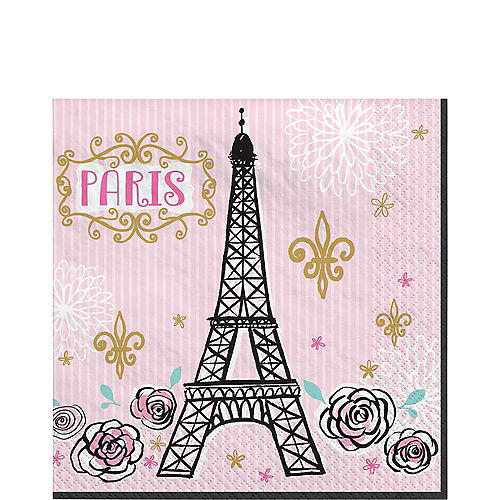 A Day in Paris Vintage Lunch Napkins 16ct Image #1