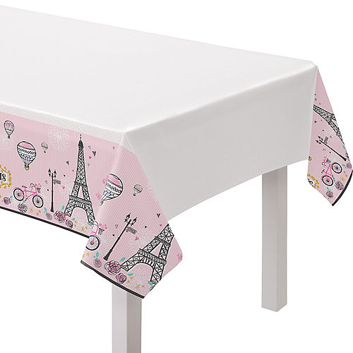 A Day in Paris Vintage Table Cover Image #1