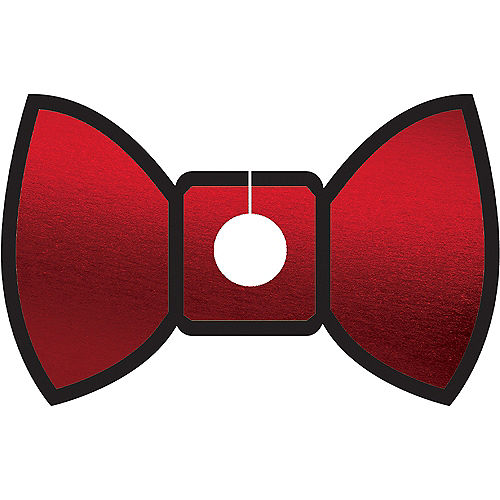 Gold & Red Bow Tie Glass Tags 18ct Image #2
