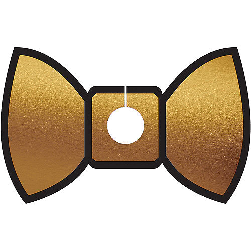 Gold & Red Bow Tie Glass Tags 18ct Image #3