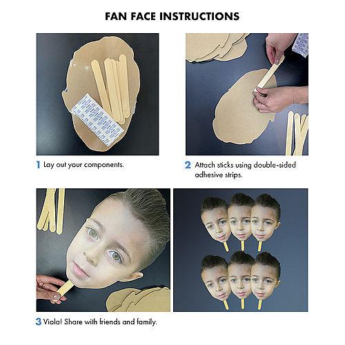 Custom Adult Fan Faces, 6ct Image #2